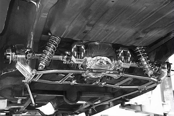 Typical rear suspension setup
