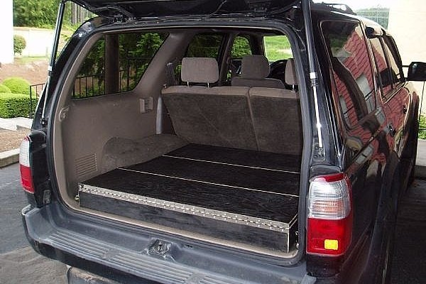 Storage boxes are a great way to organize the back of your SUV while still maintaining a functional cargo area.