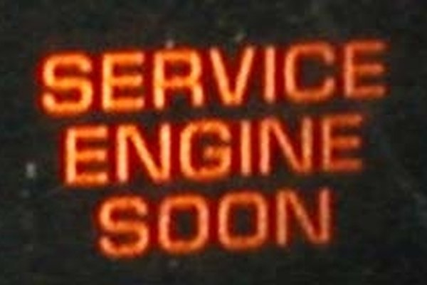 "Check engine lights may display ""Service Engine Soon"" or a small icon."