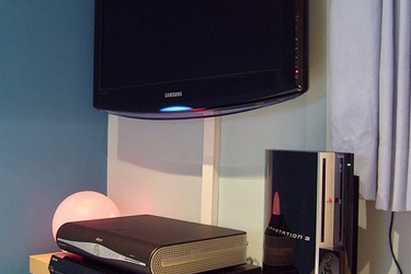 Wall-mounted flat screen television