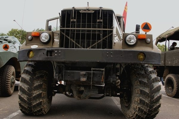Many old military vehicles like this one are exempt from headlight hieght laws.