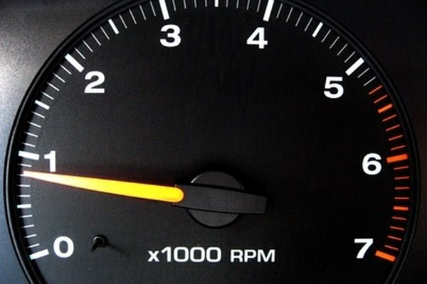 RPM gauge on an instrument cluster