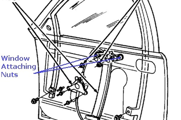 Typical window regulator