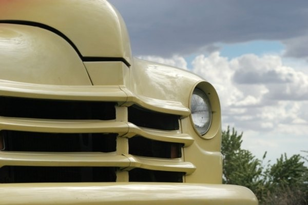 A vintage truck can be prone to oil leaks due to age.