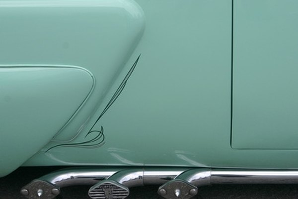 Pinstriping can be applied with paint or adhesive-backed vinyl.