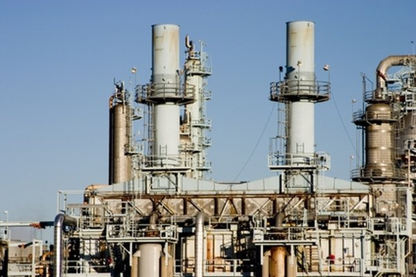 Refineries separate crude oil into an array of substances with varying specific gravities.