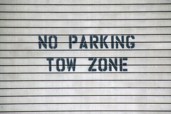 "Your car may be towed if you park in a ""no parking"" zone."