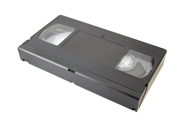 Prevent VHS tapes from being recorded over by adjusting them.