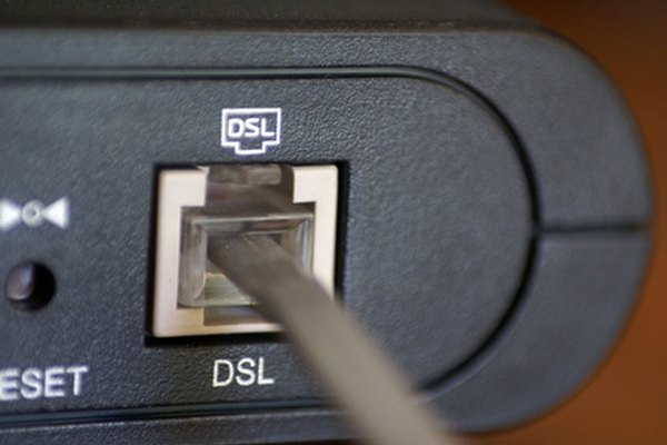 A DSL modem uses your home telephone lines to transmit data digitally.
