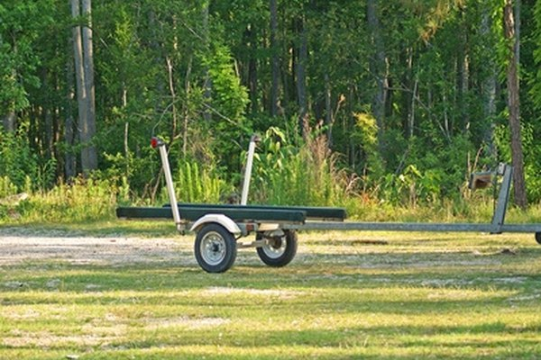A utility trailer can be a simple homemade model.