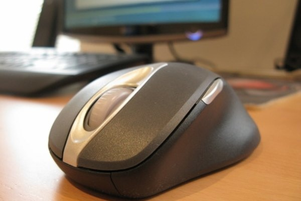 A wireless mouse can malfunction if the batteries are low.