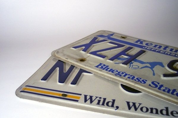 Car license plates are used to identify a vehicle and its legal owner.