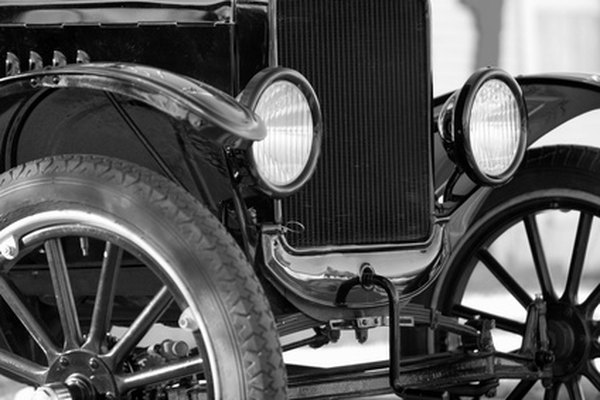 Black was a popular color on Model T cars; in fact, it was the only color for a period of time.
