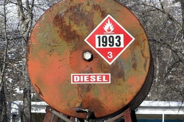 Diesel fuel has a flash point of between 100 and 160 degrees Fahrenheit.