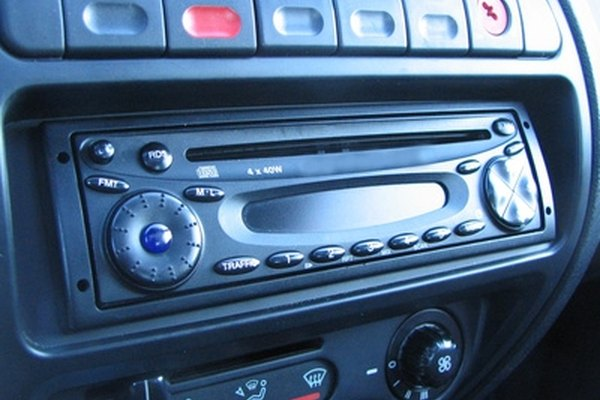 A locked car radio can be reset by inputting a four-digit code.