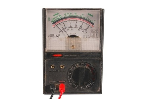 Use an analog multimeter to check a fuel pump relay.