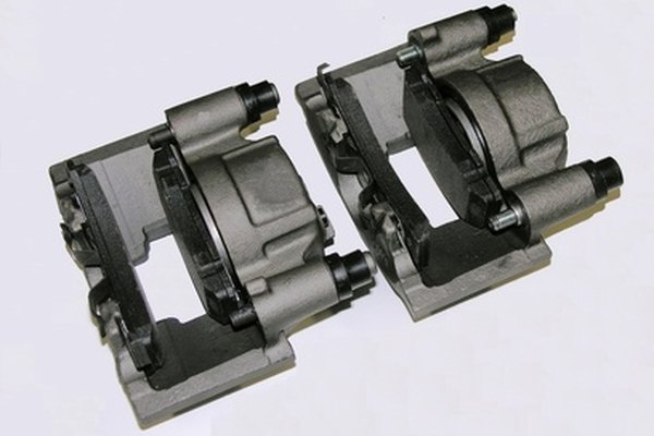 Disc brakes pads are used with hydraulically empowered calipers.