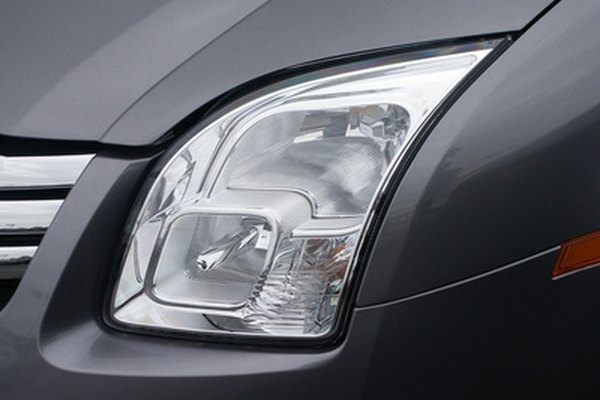 Oxidation of polycarbonate lenses causes cloudy headlights.