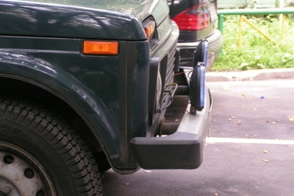 Textured bumpers can be easier to repair than smooth bumpers.