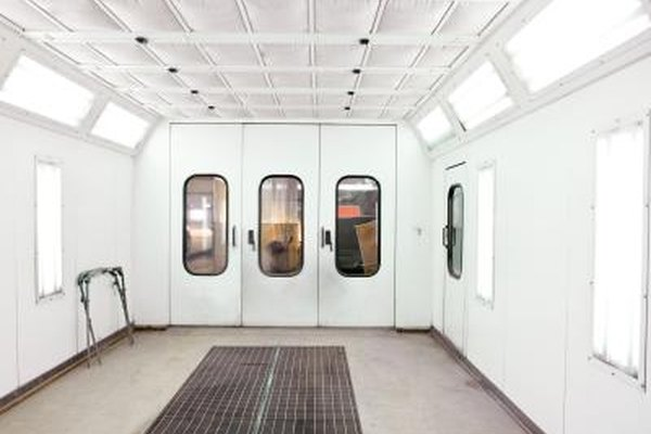 A spray booth is best, but a garage can be used as a good alternative to a spray booth.