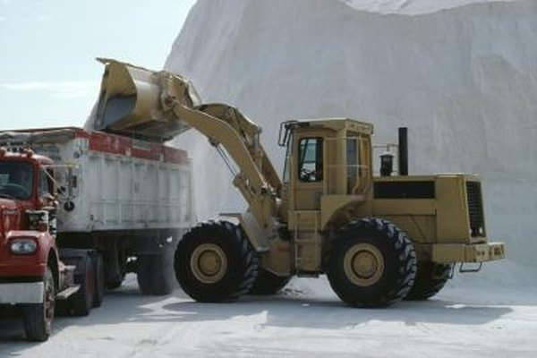 Huge piles of road salt are found in many northern cities.