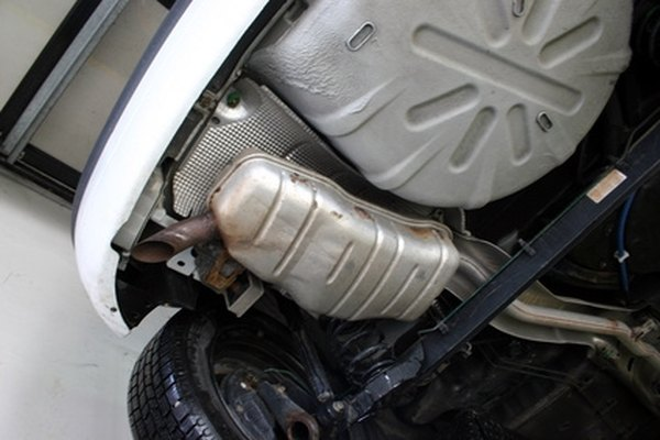 The muffler dampens a majority of exhaust noise.