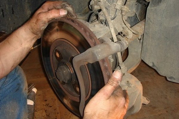 The brake rotors on the Chevy Colorado should be smooth and free of damage.