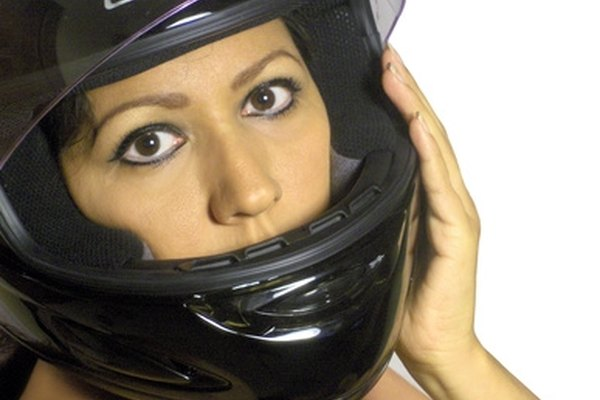 A motorcycle helmet with a full-face shield offers the best protection.