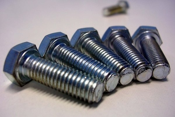 New lug bolts ready for installation.