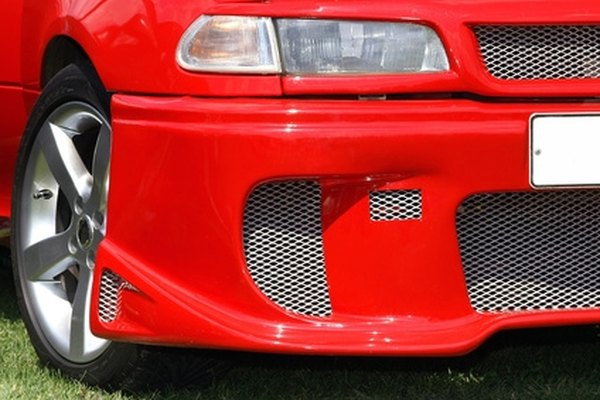 The bracket is centered in the middle of the front bumper.
