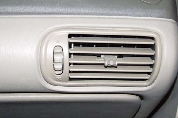 Air conditioning temperature can be monitored by placing a thermometer into one of the vents.