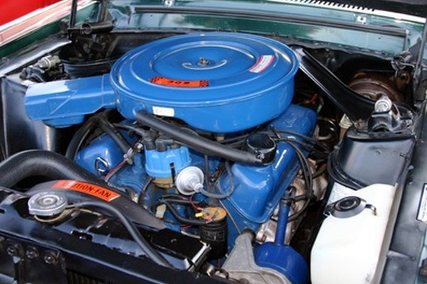 The engine's carburetor mixes the correct proportions of fuel and air.