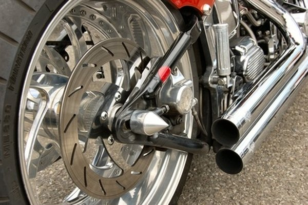 Chrome plating can be found on motorcycle parts.