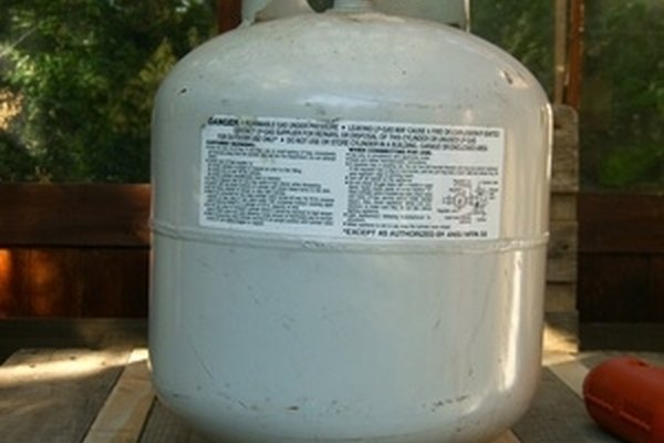 Propane tanks are a common sight, often attached to barbecues.