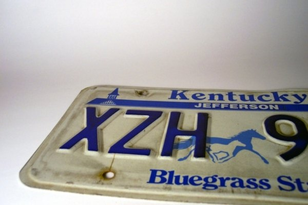 The standard license plate in Kentucky includes three letters and three numbers.
