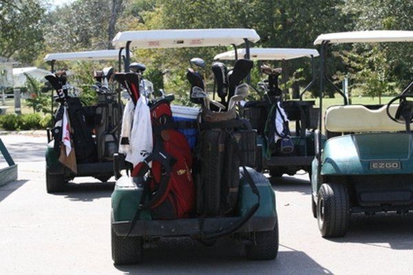 Gas-powered golf carts are useful both on and off the golf course, and they are easy to start.