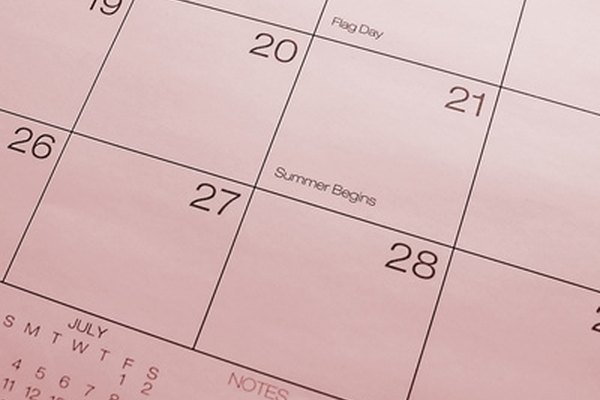 A printable calendar can be customized to your tastes.