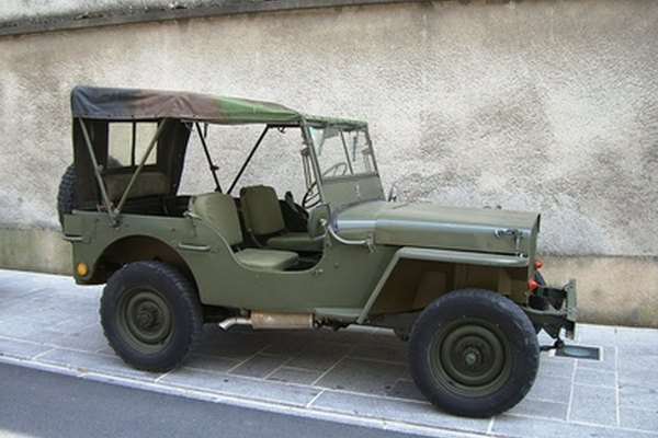 Look for clues to identify the year of a Jeep.