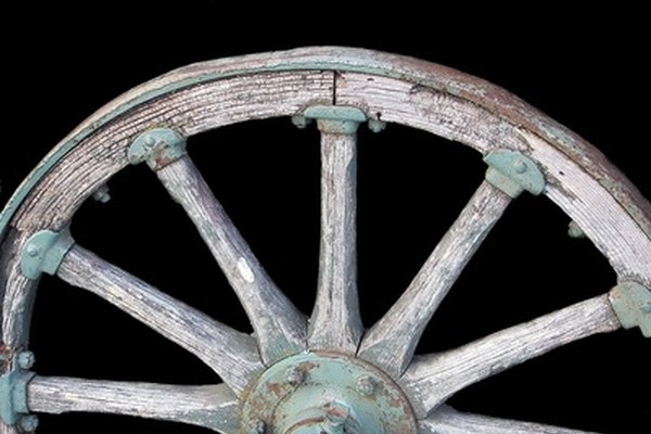 Center caps were placed on wagon wheels to protect the wooden axles from the elements of nature and dirt roads.