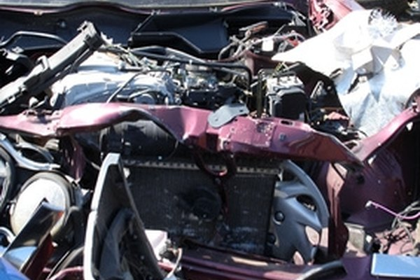 Vehicles that are too severly damaged to be safely repaired are issued salvage titles and sold as scrap metal or for parts.