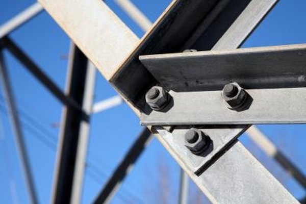 Steel bolts are easily produced and have a high strength, but can rust over time.