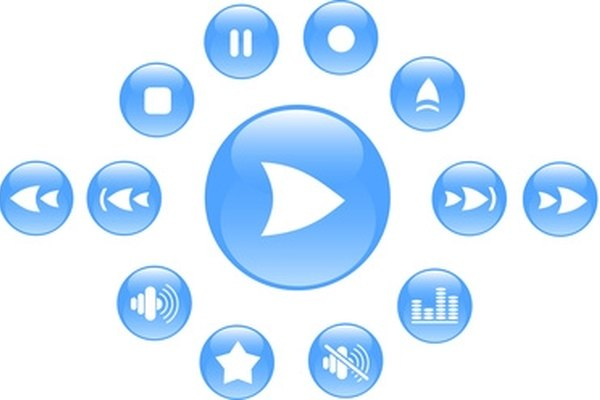 Standard media player buttons