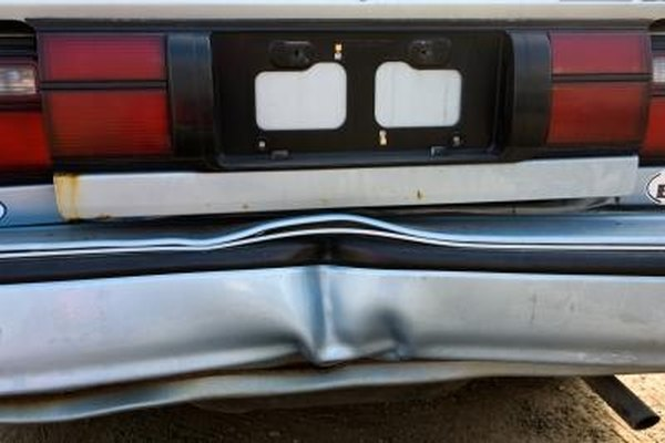 A bent metal bumper can sometimes be repaired at home.