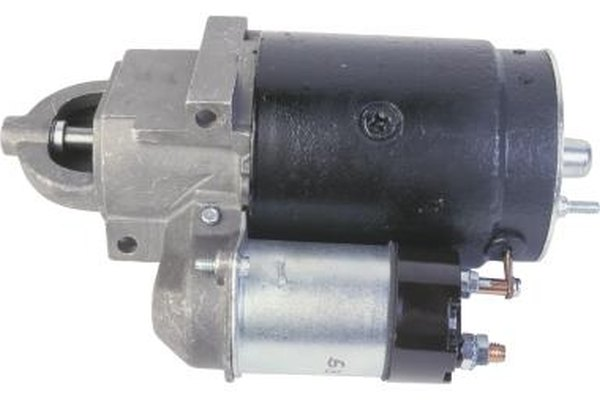 Electric current drives the starter motor when the solenoid is activated.