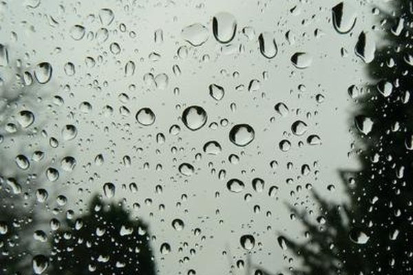A damaged window can cause vision problems under wet condiitons.