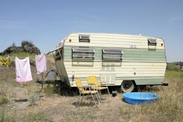 A travel trailer can turn into a home in a few simple steps.