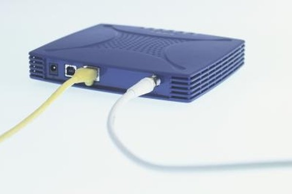 An example of a generic cable modem.