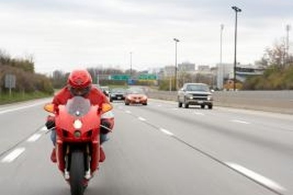 The windshield and fairing on a sportsbike make it more aerodynamic and fuel efficient.