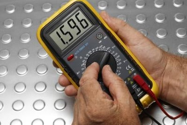 A multimeter measures electrical properties in circuits.
