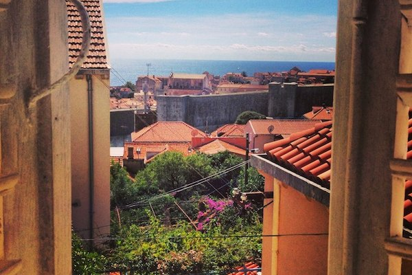 The view from our Dubrovnik Airbnb apartment
